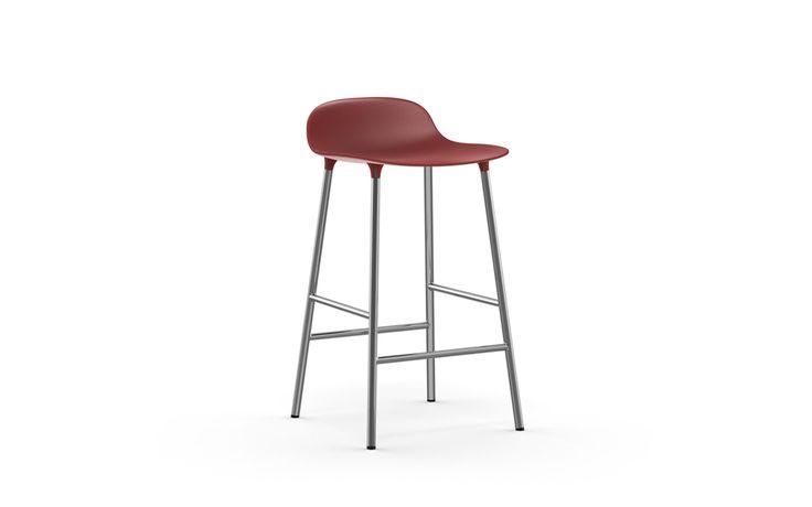 NORMANN COPENHAGEN :: Form Barstool   Molded plastic shell chair with chrome legs
