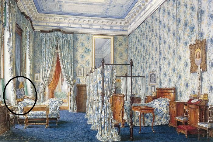 Bedroom of Alexandra Feodorovna, wife of Nicholas I, at the Alexander Palace. ROYAL RUSSIA: News, Videos &   Photographs About the Romanov Dynasty, Monarchy and Imperial Russia - Updated Daily