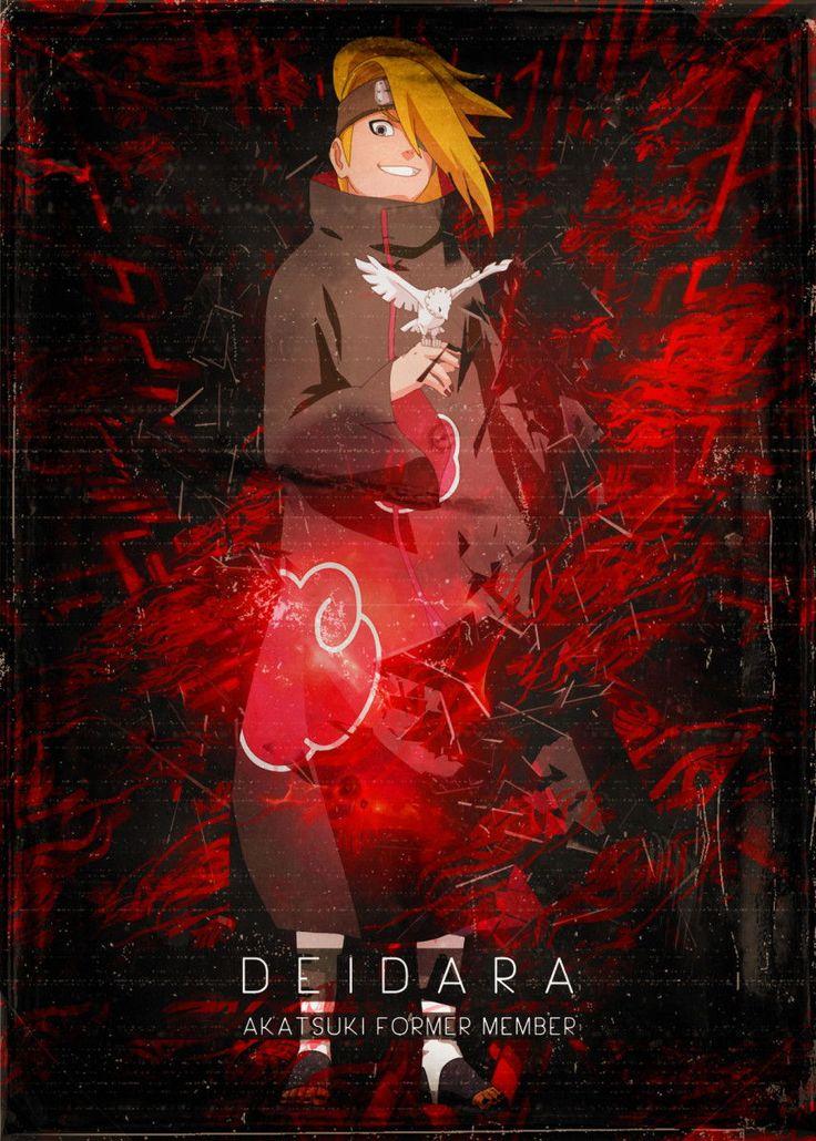 Akatsuki Deidara Anime & Manga Poster Print metal