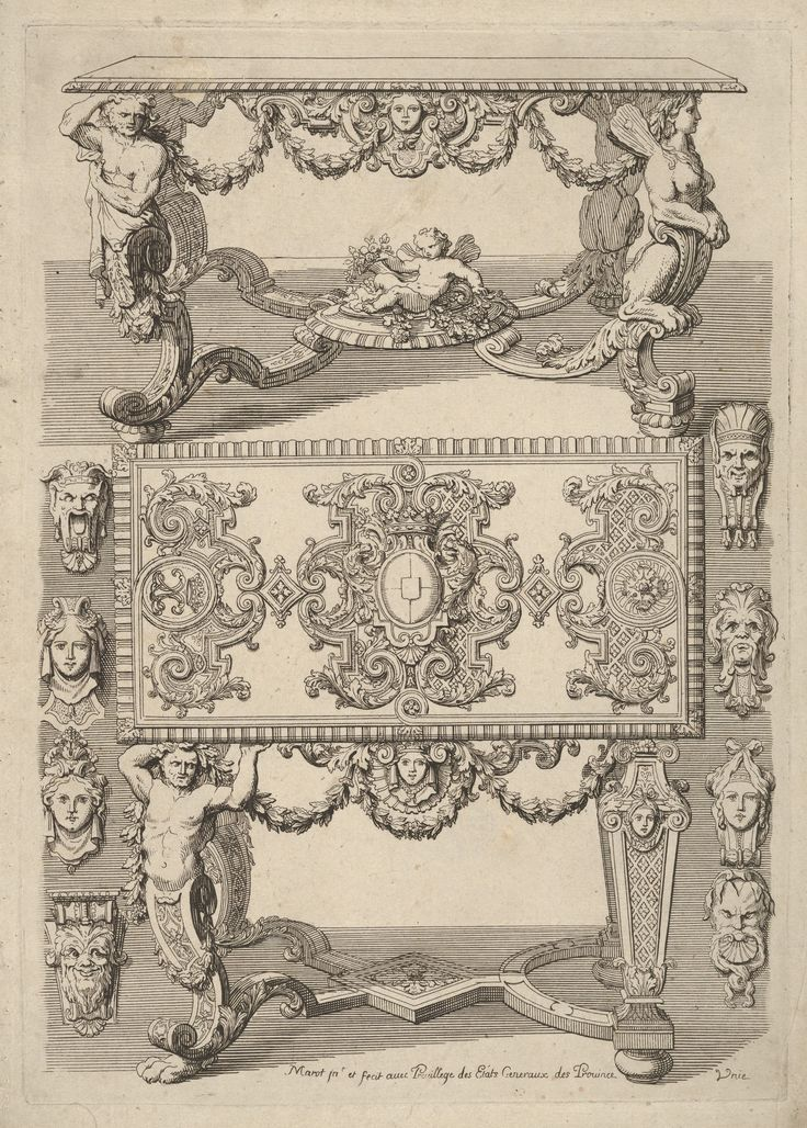 Daniel Marot the Elder   Table Designs, from 'Nouveaux Liure d'Orfevrerie'   The Metropolitan Museum of Art