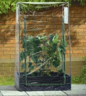 Yttertrekk som gjør din dyrkingsramme til et lite minidrivhus.