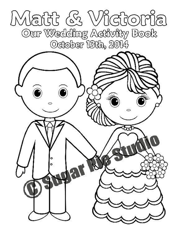 Druckbare Malbuch Aktivität gefallen Kids 8,5 x 11 PDF oder JPEG Vorlage personalisiert Hochzeit auf Etsy, CHF3.63