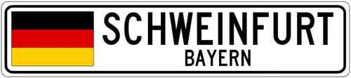 Schweinfurt Bayern Germany Flag Aluminum City Sign | eBay