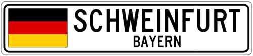 Schweinfurt Bayern Germany Flag Aluminum City Sign | eBay