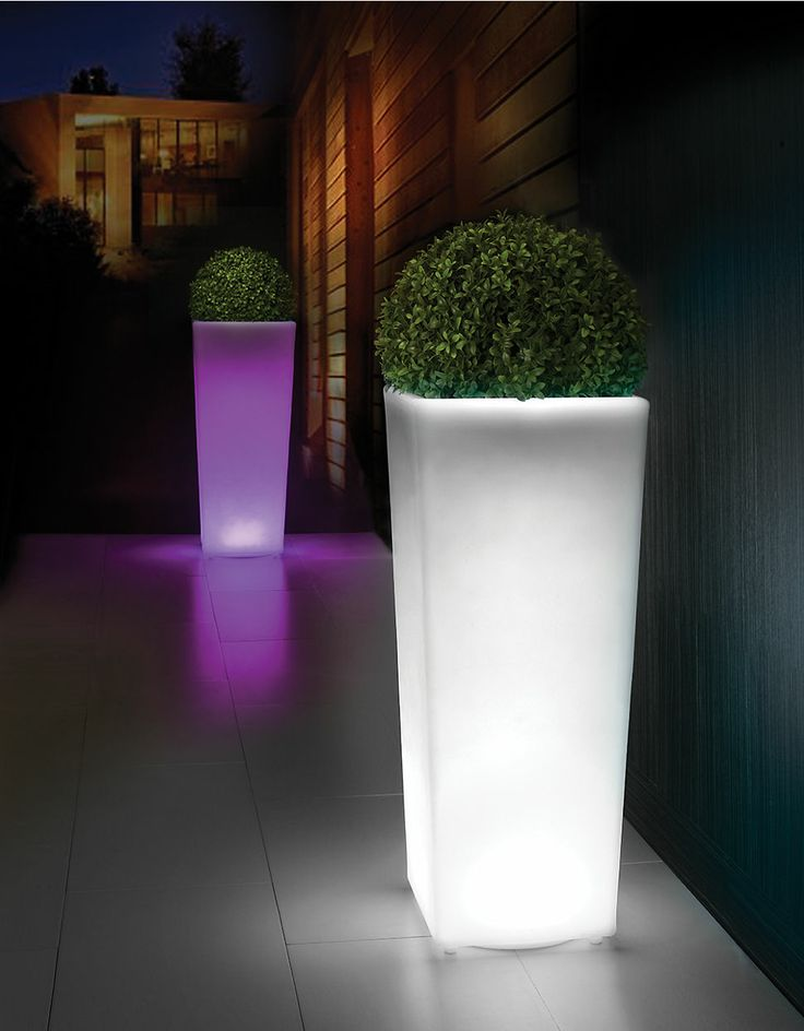 Illuminate Your Garden With Distinctly Home Outdoors Tall Flower Pot Indoor Outdoor Light