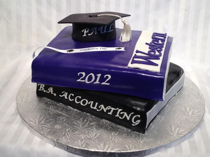 Western University Books Cake with graduation cap!