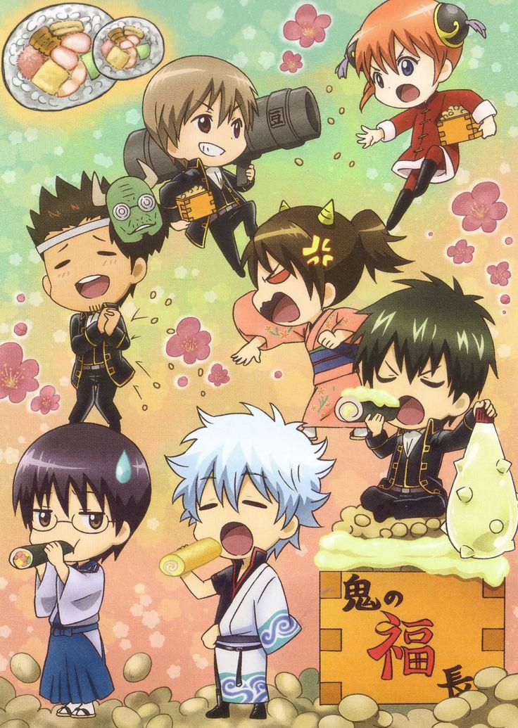 Gin Tama, Hijikata Toushirou, Shimura Tae, Sakata Gintoki, Kagura (Gin Tama), Shimura Shinpachi