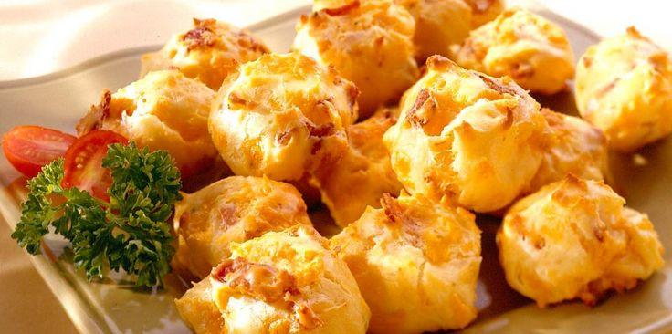 Bacon Cheddar Puffs - Seite mit tausenden von Rezepten mit Käse - Miammmm!