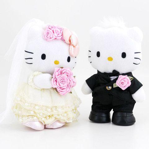 HK  ❣  HELLO KITTY and Dear Daniel Lace Wedding Dress Plush Set