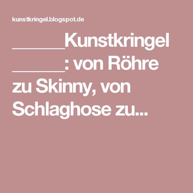 Hose umnähen ganz einfach: von Röhre zu Skinny, von Schlaghose zu...