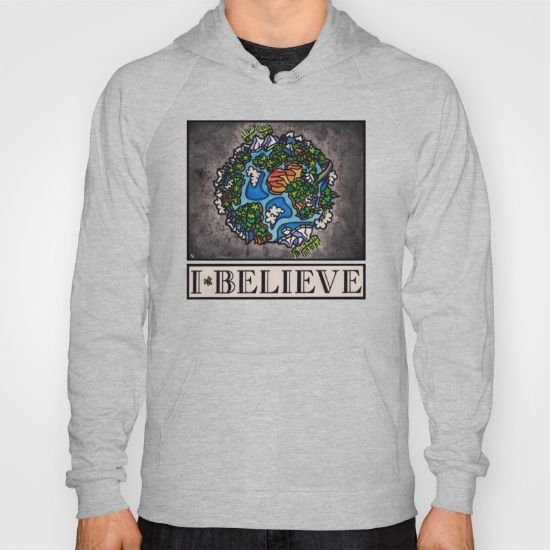 "The ""I Believe"" Illustration Collection by Vernon Fourie is available at society6.com/vernonfccstudio as T-Shirts, V-Neck T-Shirts, Long Sleeve T-Shirts, Tank Tops, Biker Tanks, Hoodies, Throw Pillows, Tote Bags, Art Prints & Coffee Mugs. American Apparel Zip-up Hoodies and Pullover Hoodies come in a variety of colors and sizes.  Complete with kangaroo pocket this stretchy, comfortable fit, unisex cut includes double-stitched cuffs and hem."