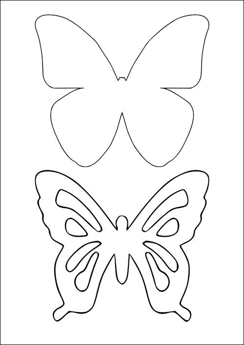 Картинки бабочек для вырезания распечатать