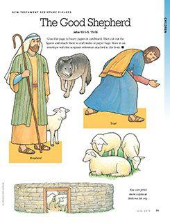 New Testament Scripture Figures: The Good Shepherd.