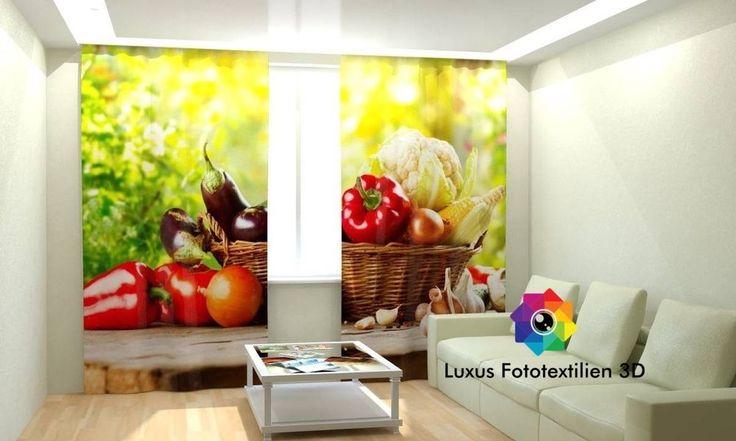 details zu gardinen vorhang fotogardine mit motiv. Black Bedroom Furniture Sets. Home Design Ideas
