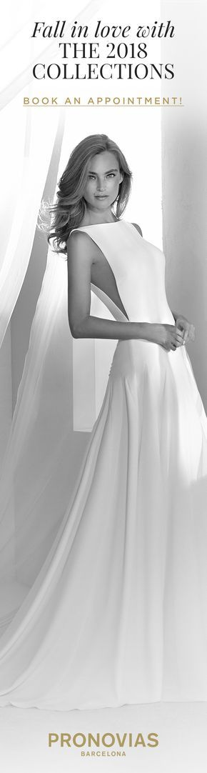 Try on the Renace dress with an ideal side opening at a store near you! #AtelierPronovias2018