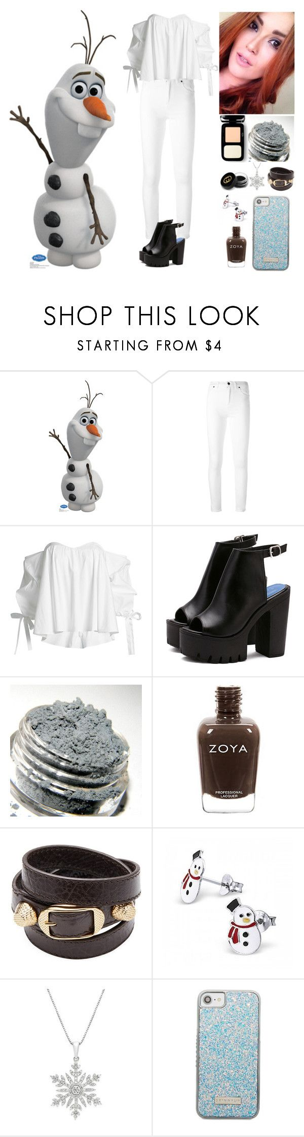 """""""Olaf."""" by annacastrolima ❤ liked on Polyvore featuring Tom Ford, Caroline Constas, Balenciaga, Skinnydip, Gucci, white, disney, frozen, disneycharacter and olaf"""