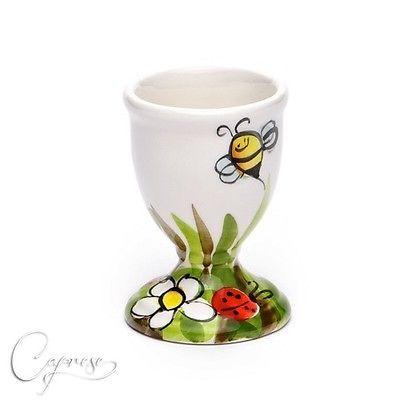 Bassano Keramik Eierbecher Lustiges Motiv Wiese 8 Cm Hoch Neu #eggcup