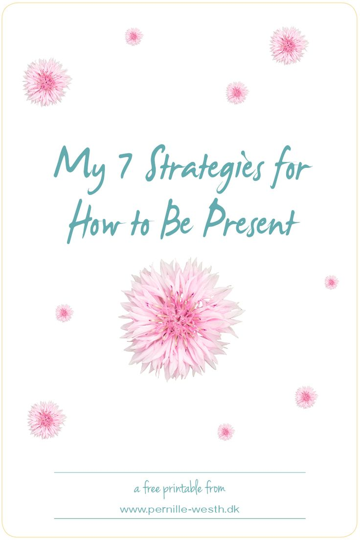 Life is about being present, because life happens in the present moment. Get my FREE 7 Strategies for How to Be Present; http://pw5383.wixsite.com/strategiespresent