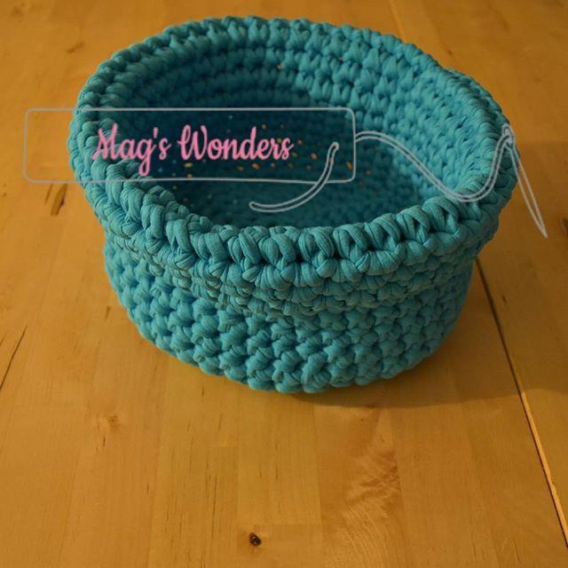 Corbeille en crochet #MagsWonders Diamètre 25cm Hauteur 14cm