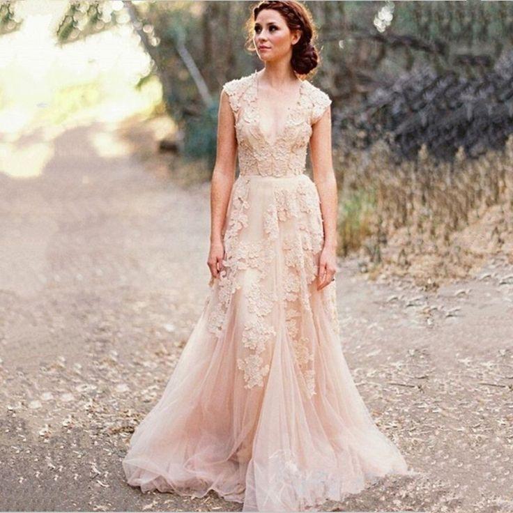 2015 Vintage Lace Wedding Dress Anna Campbell Sexy Boho Wedding Dresses Plus Size Robe De Mariage Bridal Gowns Vestido De Noiva