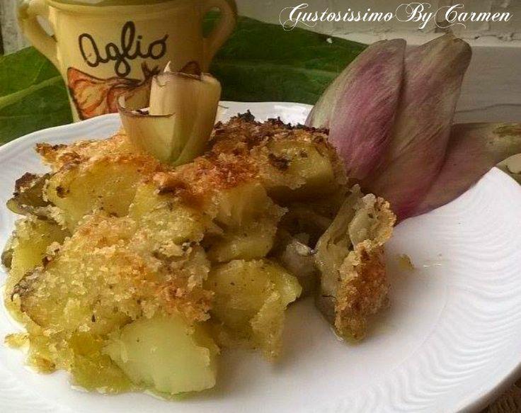 I carciofi e patate gratinati, da noi hanno una preparazione semplice, tanto quanto basta per essere annoverata tra le ricette di quel ricco menù dal profumo di Calabria.