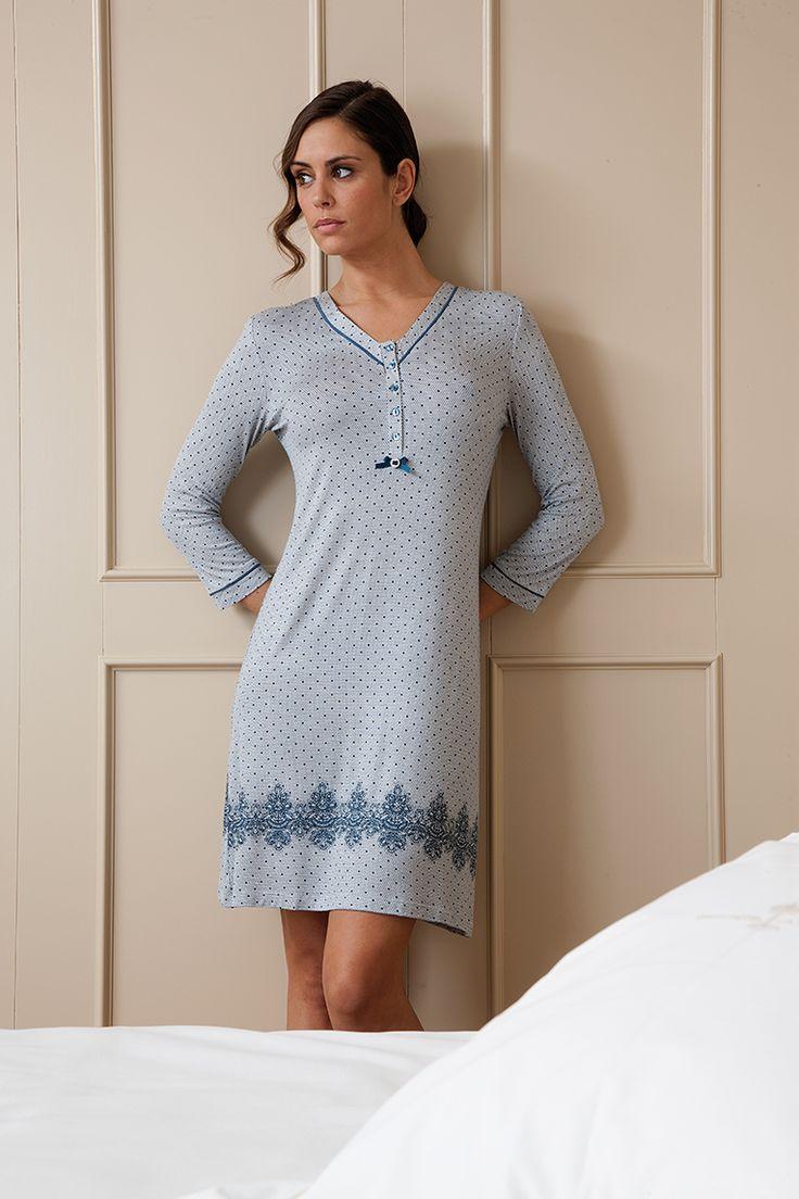 Camisón en tejido viscosa #egatex #sleepwear #camison