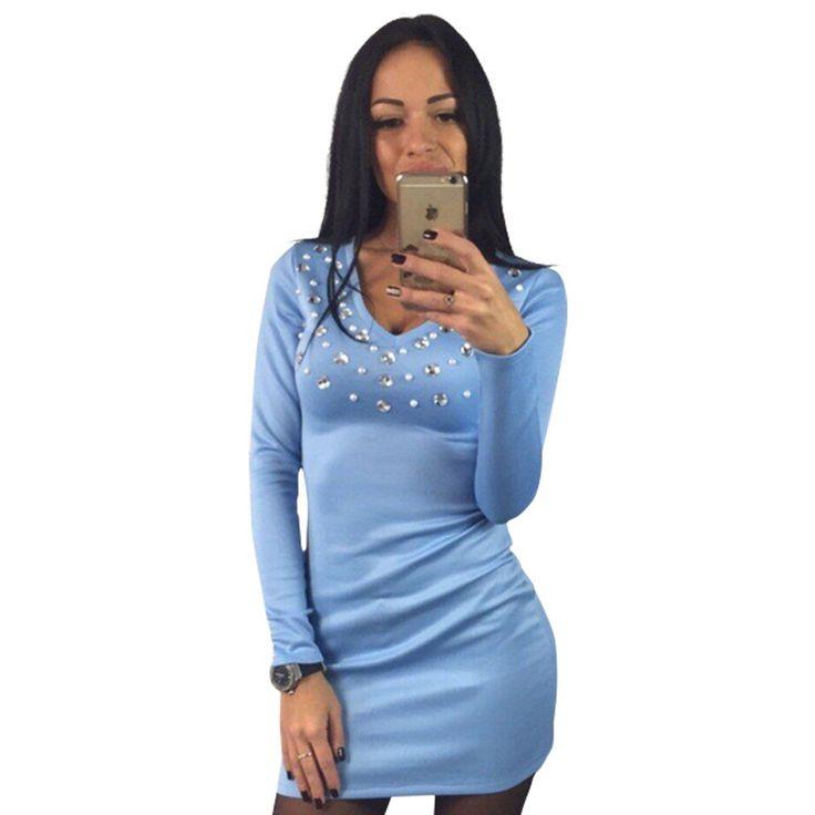 女性パーティードレスレディースダイヤモンドvネックソリッドカジュアル短いミニドレスレッドブルーブラックシースドレスvestidosデ·フェスタLJ7390M