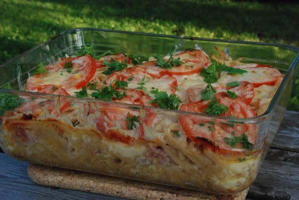 Gjorde en riktigt god pastagratäng i lördags. Här får ni receptet på den! Serveras med sallad till, gärna med citronolja, italiensk salladsk...