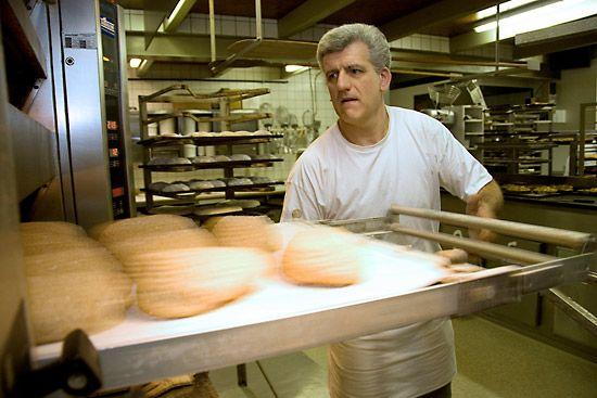 Brood bakken, in de oven