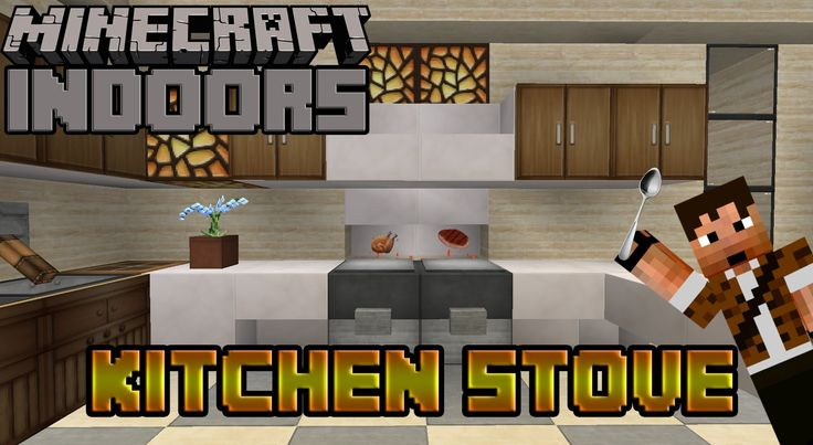 How to Build a Working Oven - Minecraft Indoors (Kitchen Stove Tutorial)