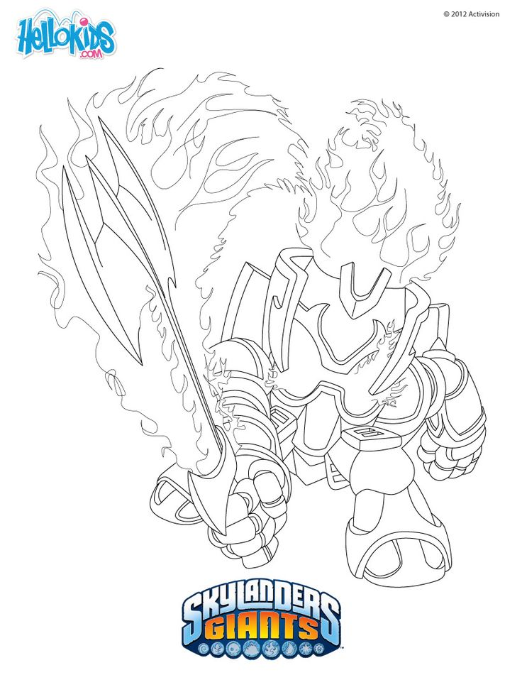 skylanders coloring pages ignitor backpack - photo#4