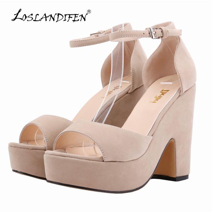 >> Click to Buy << LOSLANDIFEN Sexy High Heels Platform Shoes Pumps Women's Dress Fashion Wedding shoes lady Pump 5 Colors Size 978-1VE #Affiliate