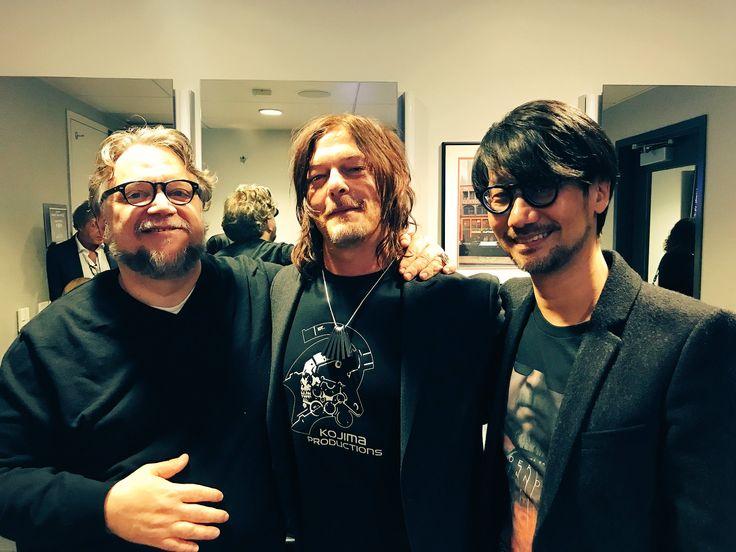 Guillermo del Toro, Norman Reedus and Hideo Kojima