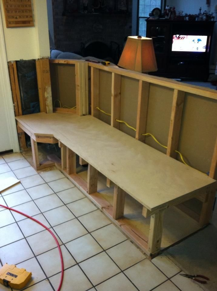 Banquette Bordering Kitchen 1 2 Seating Is Still Waiting For The Back We Finally Got The