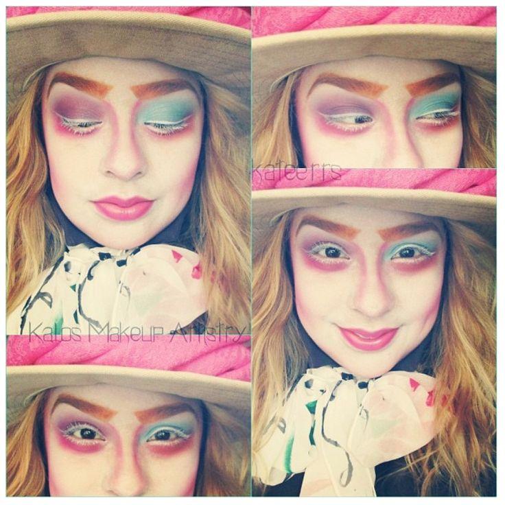 #madd hatter #makeup #alice in wonderland so cute! (Credit) @kateerrs on Instagram