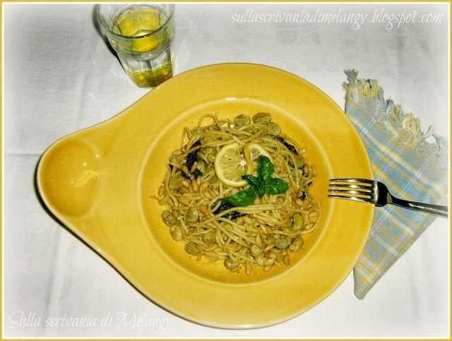 EasySpaghetti color giallo-miele  Spaghetti freddi con verdure al limone (ricetta con Magic Cooker) | Sulla scrivania di Melangy