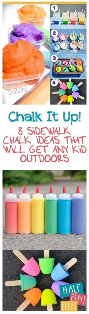 Chalk It Up! 8 Sidewalk Chalk Ideas That WIll Get Any Kid Outdoors| Sidewalk Chalk, DIY Sidewalk Chalk, Homemade Sidewalk Chalk Recipes, Chalk Recipes for Kids, DIY Sidewalk Chalk for Kids, How to Make Your Own Sidewalk Chalk, Popular Pin