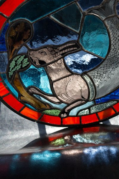 My stained glass schoolwork. The original window can be found in Chartres Catedral.