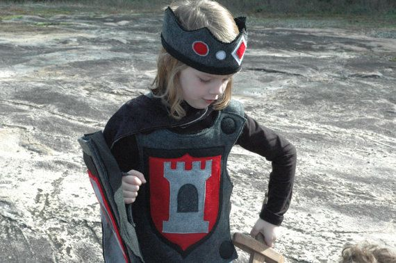 Knight Body Armor - Breastplate -  RED and BLACK - Halloween Costume - Halloween Costume - Kid Costume. $38.00, via Etsy.