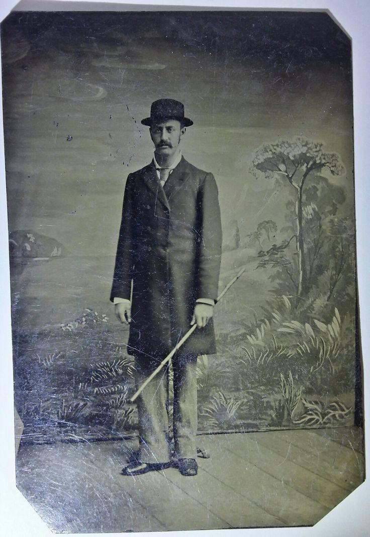 Morgan Earp--- 1/6th plate tintype. Original image from the collection of P. W. Butler.
