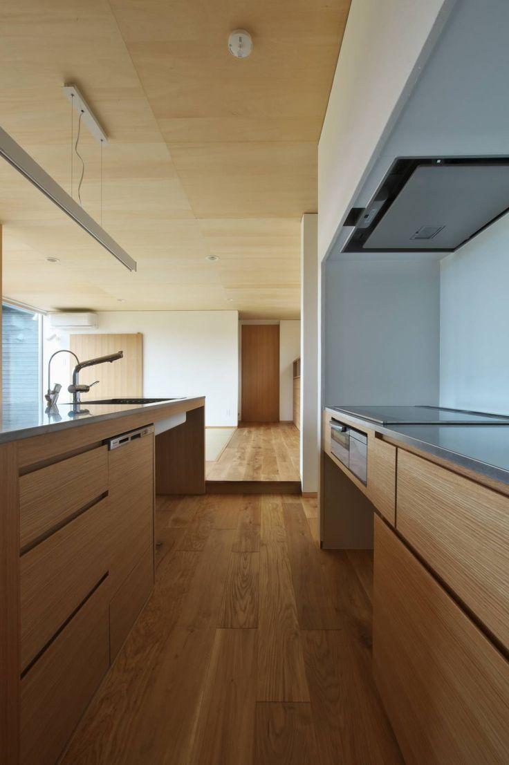 DEMU建築設計事務所 の ラスティックな キッチン 造作キッチン