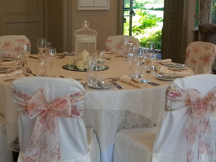 Vintage floral organza sashes - prefect for a summer wedding.