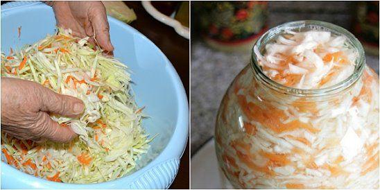 Rýchly a jednoduchý recept na kvasenú kapustu, ktorú pripravíte bez sudu. Navyše, vďaka jablkám získa kapusta ešte viac na chuti. Môžete si na nej pochutnávať už o dva dni. Oplatí sa vyskúšať! Potrebujeme: 3 kg hlávkovej kapusty 1 veľkú mrkvu 2-3 zelené jablká 3 lyžice soli Postup: Kapustu nakrájame nadrobno,