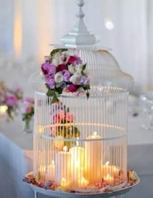 Love The Idea Of Candles In A Protected Cage If Only I Was More Bird Person Wholesale Bulk Wedding Centerpieces From Shopatusm