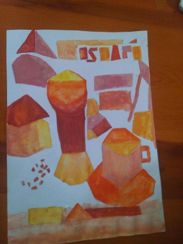 En este caso he empleado una paleta monocromática cálida. Los materiales son los mismo que los mencionados en la foto anterior, es decir, un folio formato A4 pintado a acuarela y un boceto creado a lápiz.