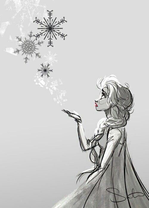 Disney Frozen Elsa Drawing Ma Fille Pinterest Disney And