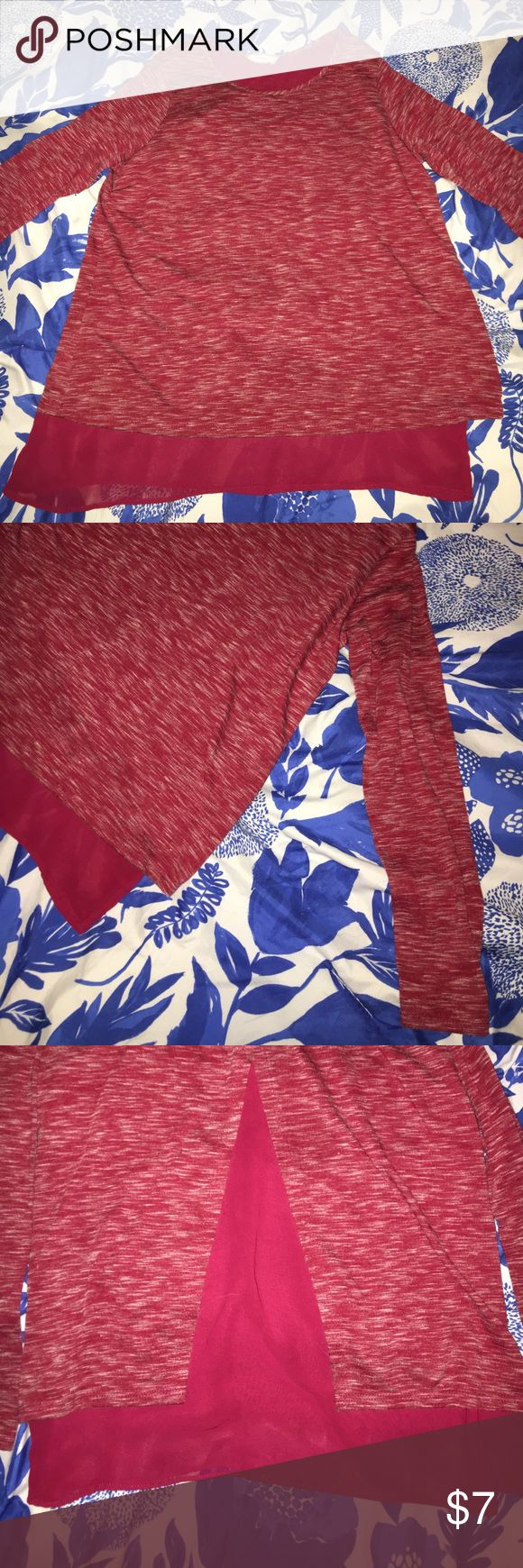 Red Blouse In perfect condition. Solid red material is sheer. Bundle kids clothes to save big. Soprano Shirts & Tops Blouses