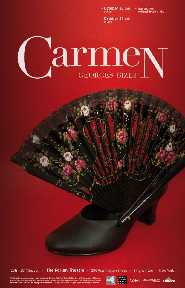Carmen / Opera Season Artwork for TCO (New York). http://www.josellopis.com/portfolio/communication-campaigns