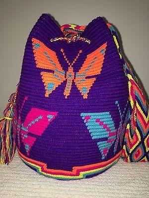 Envío Gratis en EE. UU. hecho a mano colombiano tribus Wayuu Mochila hombro Bandolera Bolso Cubo