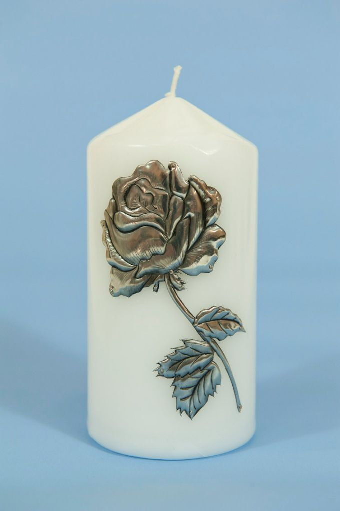 Classic Pillar candle with hand crafted Sandy Griffiths